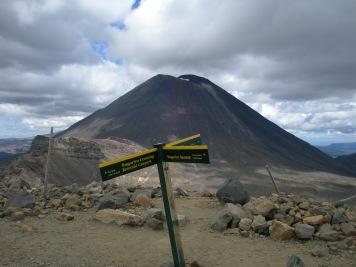 Mount Ngauruhoe - a volcanic cone on the Tongariro Crossing